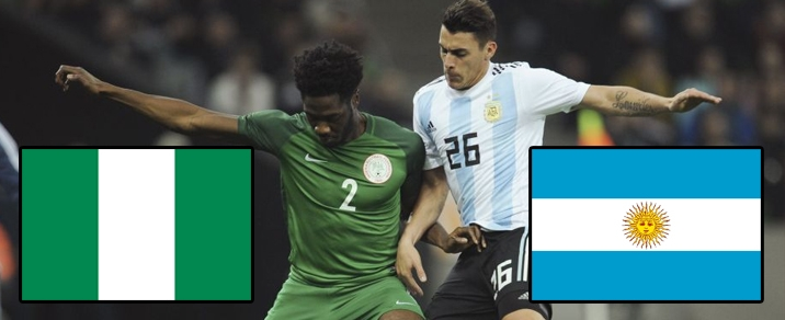 26/06/2018 Nigeria vs ArgentinaWorld Cup 2018 - Group Stages